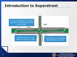 Superstreet Design Design And Performance Evaluation For Superstreet