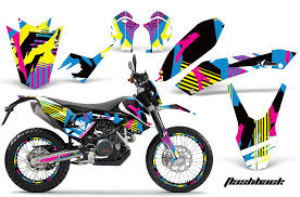 ktm adventurer 690 supermoto enduro bike graphic decal kit 2008 2015