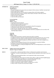 Porter Resume Porter Resume Samples Velvet Jobs 1
