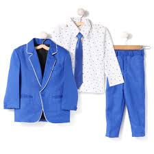 Blue Coat Blue Coat With Shirt Tie And Pant Set