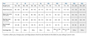 Hit Air Size Chart Helite Custom Air Vest Helite Custom Moto Crash Vest
