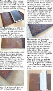 how to make a leather journal book binding tutorial leather book covers leather books