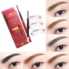 details about natural double head automatic long lasting tattoo waterproof eyebrow pen makeup