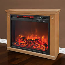 com lifesmart 3 element quartz infrared electric portable fireplace space heater home kitchen