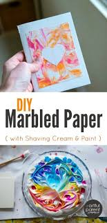the best easiest and est diy marbled paper is done with shaving cream marbling