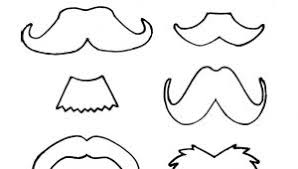 Small Picture 100 Coloring Pages Of Mustaches Lorax Mustache Template