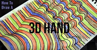 Cool Art Super Cool 3 D Hand Art