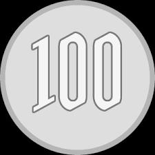 お金のイラスト100円玉百円硬貨の小銭コイン貨幣 無料フリー
