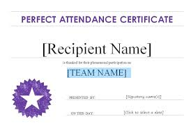 free perfect attendance certificate free perfect attendance certificate letter templates glotro co