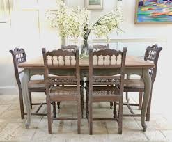Vintage Painted French Limed Oak Extending Dining Table 8