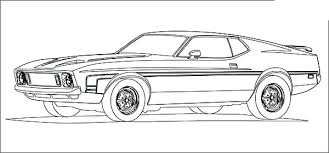 Enchanting Coloring Pages Sports Cars Mustang Coloring Pages Awesome