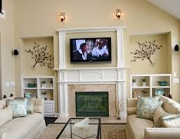 gas fireplace ideas with tv above tv above fireplace closet