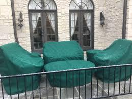 Patio furniture set covers sunbrella forest green