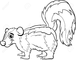 Small Picture Skunk Coloring Pages Skunk Coloring Page Animals Skunk 19062