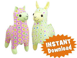 Free Stuffed Animal Patterns Delectable Lloyd LLAMA Alice ALPACA INSTANT DOWNLOAD Sewing Pattern PDF