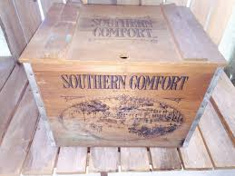Large Wooden Boxes To Decorate Vintage Southern Comfort Wooden CrateBeer CrateLiquor crate 85