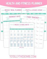 Unique Weekly Workout Planner Template Health And Fitness Diary