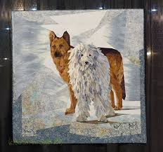 Art and Quilting in Camden and Hope » Blog Archive » International ... & International Quilt Festival 2013, Houston, #3 · Snow Buddies by Ruth Powers Adamdwight.com