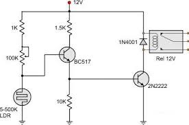 light dark activated relay this addition the sensitivity of the circuit is further increased the hysteresis window is significantly decreased although there is still a region