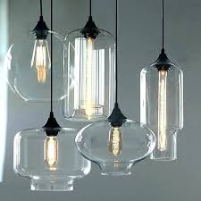 small glass pendant lights s light shades blue mini stained pendan