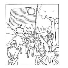 revolutionary war battle coloring pages