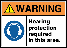 Ansi Iso Warning Safety Signs Hearing Protection Required In This Area