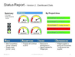 One Page Report Template Daily Status Project Manager Large Html