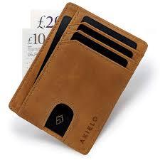 Designer Bus Pass Holder Akielo Wallet Minimalist Card Wallet Rfid Blocking