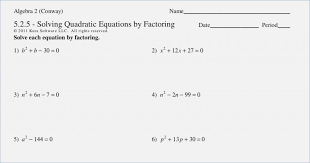 solving quadratics by factoring worksheet solving quadratic equations by factoring worksheet solving quadratic
