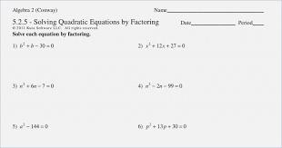 solving quadratic equations by factoring worksheet solving quadratic equations factoring worksheet algebra 2 solving free