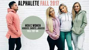 Alphalete Fall Sizing Guide Men Womens Hoodies Joggers And Shorts