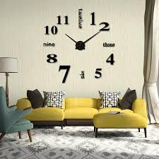 modern large quartz wall clock acrylic diy 3d mirror ogue zoom images