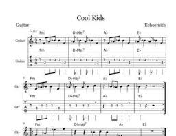 sheet music for kids learn cool kids by echosmith free sheet music for guitar piano