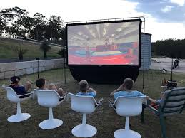Backyard Movie Night  In Honor Of DesignMovie Backyard