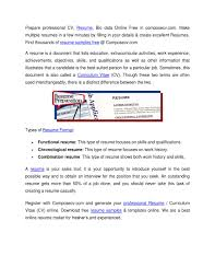 Resume Preparation Online Resume Samples Cv Maker Online Free Resume Generator