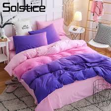 solstice home textile purple pink bedding set 3 bedlinen duvet cover pillowcase bed sheet girl kid teenage woman bedclothes canada 2019 from elecc