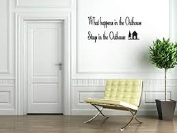 Amazon.com: Outhouse Bathroom Vinyl Wall Decal Quotes Wall Stickers ...