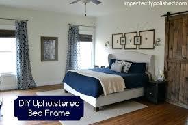 diy upholstered bed. Upholstered Bed Frame Tutorial Diy Metal 8