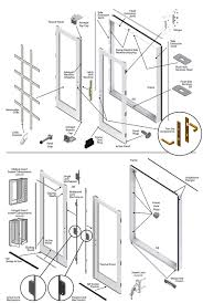 exterior door parts. 200 series hinged patio door - double panel exterior parts