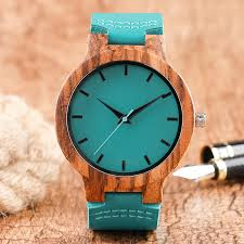 popular mens watches blue face buy cheap mens watches blue face genuine leather band strap trendy blue face mens wrist watches quartz nature wood modern mini st wooden