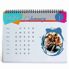 Photo Calander Abstract Personalised 2019 Desk Calendar
