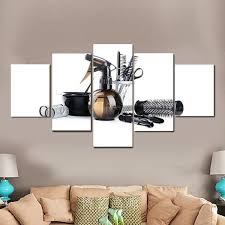 unusual hair salon wall art home decoration ideas multi panel canvas elephantstock vinyl personalized
