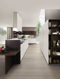 fusion antis euromobil. Contemporary Kitchen / Wood Veneer Glass Aluminum. KUBIC Euromobil Spa Fusion Antis