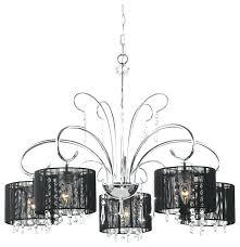 black and chrome chandelier black shade 5 light chrome chandelier next amalfi black chrome chandelier black