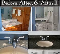 Fascinating Remodelaholic Painted Bathroom Sink And Countertop