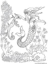 Small Picture Free Coloring Page Coloring Adult Mermaid And Child Drawing By