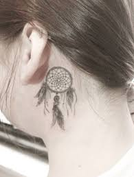 Dream Catcher Tattoo Behind Ear 100 Sensuous InnerBehind The Ear Tattoos April 100 16