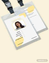 Photo Id Template Free Download 35 Free Id Card Templates Download Ready Made Template Net