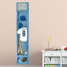 Canvas Height Chart Kleiber Boys Baseball Height Chart Personalized Canvas Art