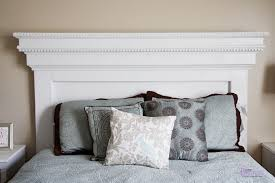 Make a headboard with lots of moulding! Inspired by Pottery Barn Addison  Headboard, features dentil moulding and crown moulding.